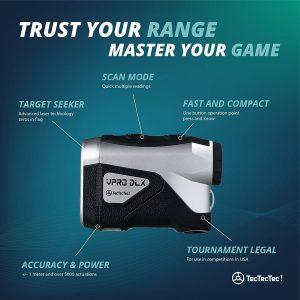 TecTecTec Trust Your Range Master Your Game VPRO DLX Rangefinder Technology