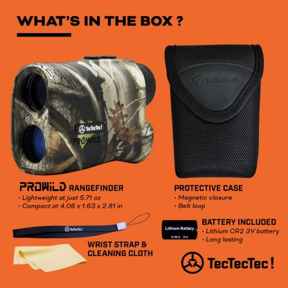 TecTecTec what's in the box hunting precision laser rangefinder PROWILD