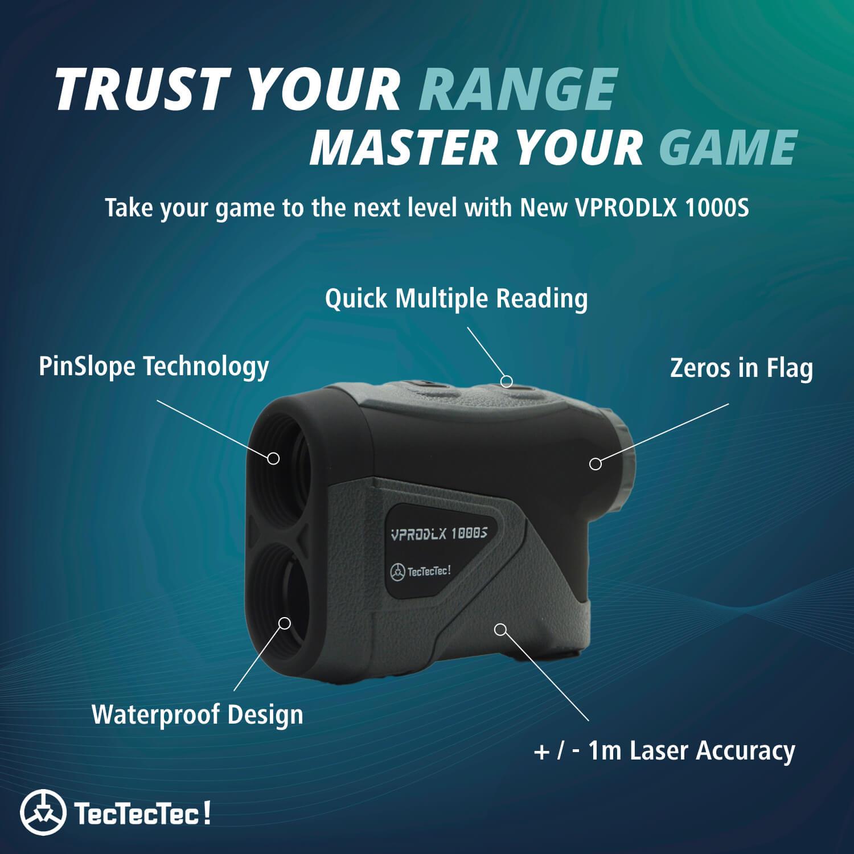TecTecTec Trust Your Range Master Your Game VPRODLX 1KS Rangefinder Technology