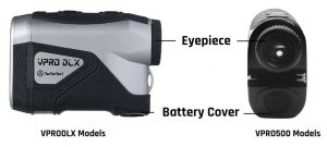 Where is the TecTecTec Golf Rangefinder battery located