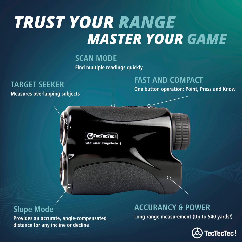 TecTecTec Trust Your Range Master Your Game VPRO500S Rangefinder Technology
