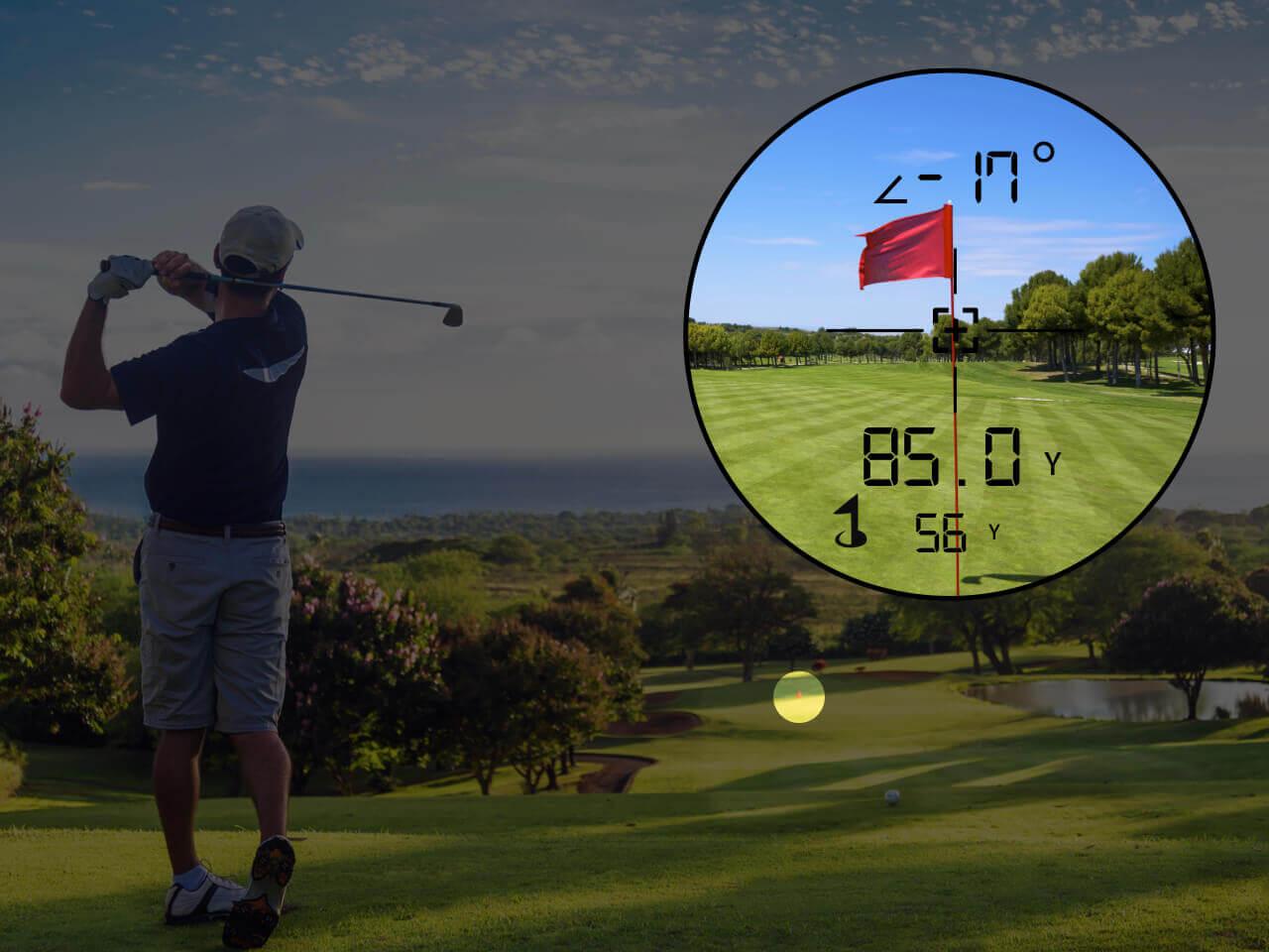 TecTecTec Golf Rangefinder PinSlope Technology