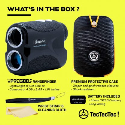 TecTecTec what's in the box golf precision laser rangefinder VPRO500S