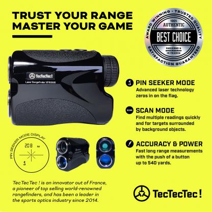 TecTecTec pin mode pin seeker scan mode vibration precision laser golf rangefinder VPRO500