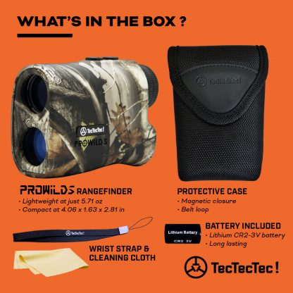 TecTecTec what's in the box hunting precision laser rangefinder PROWILD S