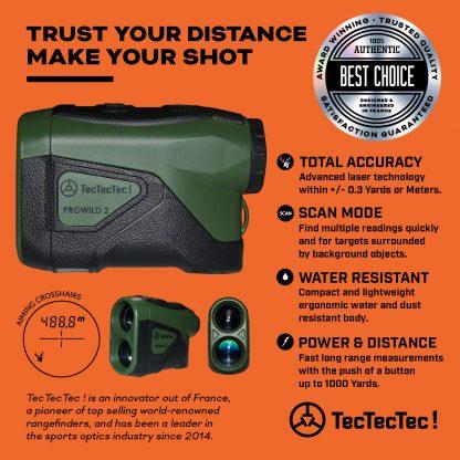 TecTecTec high accuracy range mode scan mode precision laser rangefinder PROWILD 2