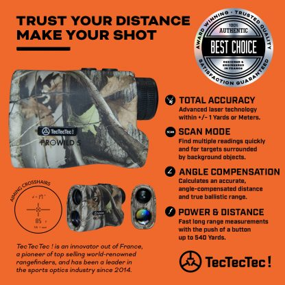 TecTecTec total accuracy range mode scan mode angle-compensated compensation slope precision laser rangefinder PROWILD S