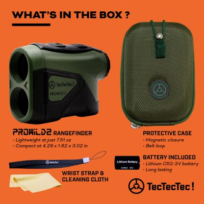 TecTecTec what's in the box hunting precision laser rangefinder PROWILD 2
