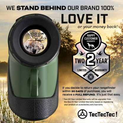 TecTecTec warranty hunting high precision laser rangefinder PROWILD 2