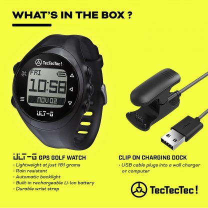TecTecTec what's in the box ULT-G precision satellite gps golf watch