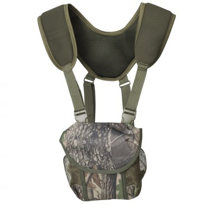 TecTecTec PROWILD BAG Camo Binoculars Rangefinder Designed for hunters with neoprene harness, neck strap, and extensions. Magnet closure and quick release clip-on buckles