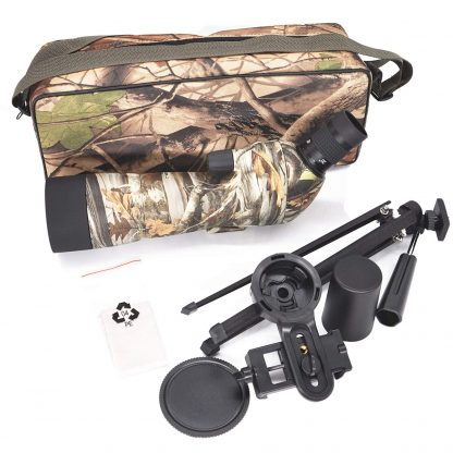 TecTecTec high-definition optics BAK-4 FMC 60mm lenses spotting scope SPROWILD Next Camo G1 600D polyester carrying bag and tripod