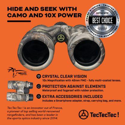 TecTecTec high-definition optics BAK-4 FMC 42mm lenses Binoculars BPROWILD