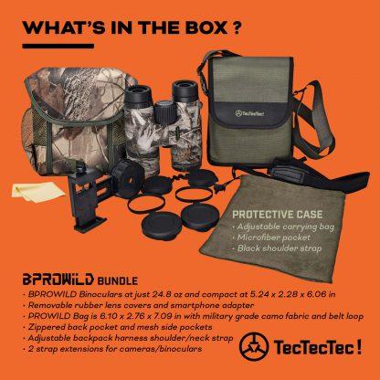 TecTecTec what's in the box BPROWILD Bundle Camo Binoculars Rangefinder