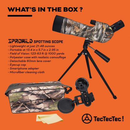 TecTecTec what's in the box spotting scope SPROWILD