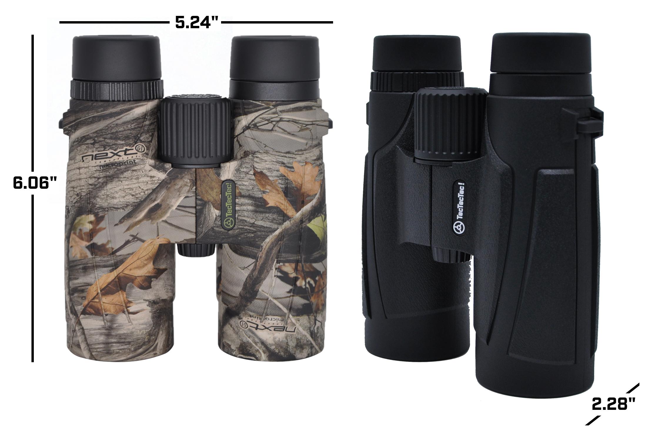 TecTecTec high-definition optics BAK-4 Barium prism Fully Multi Coated 42mm lenses BPROWILD Binoculars Dimensions