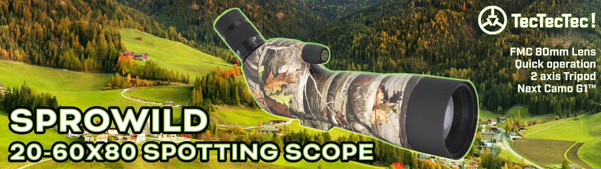 SPROWILD Slide Banner Spotting scope Hunting TecTecTec